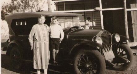 Grandma Rogers & Harry c vintage car at Toobrack