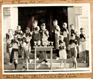 1st Boxing Contest 1931 was held in a classroom.