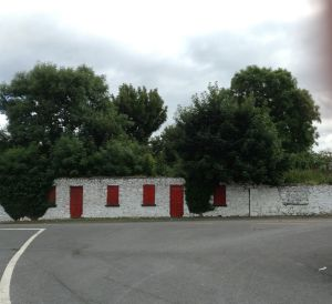 British Army Barracks in Carracastle - notice the red doors