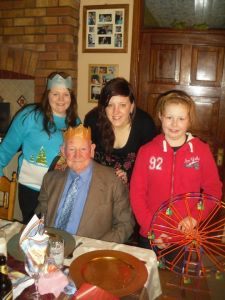 Treasa, Sheila, Claire with Grandfather Jim Coleman Senior