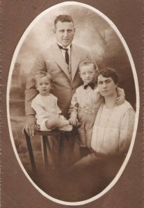 James Joseph and Ruby Judge with sons Henry and James or better known as Harry and Jim c.1923