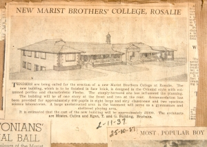 Newspaper add for building Rosalie