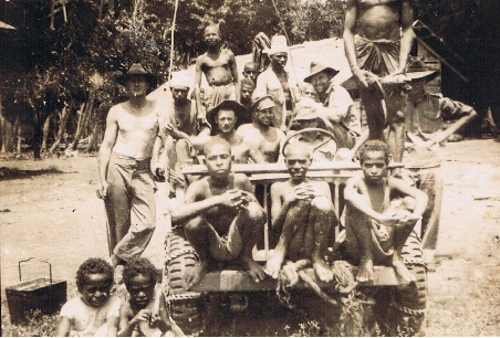 PNG WWII FJ with indigenous tribe