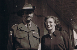 Harry in uniform with Cecily